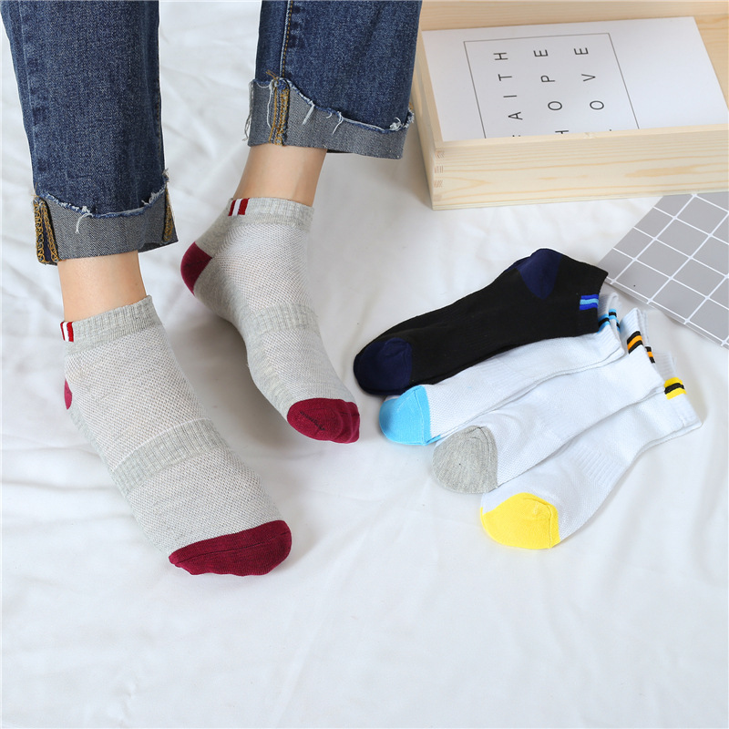 Sugars - Fashion High Quality Men Cotton Bamboo Fiber Socks Summer Mesh Breathable Classic Short Socks Thin Calcetines Hombre