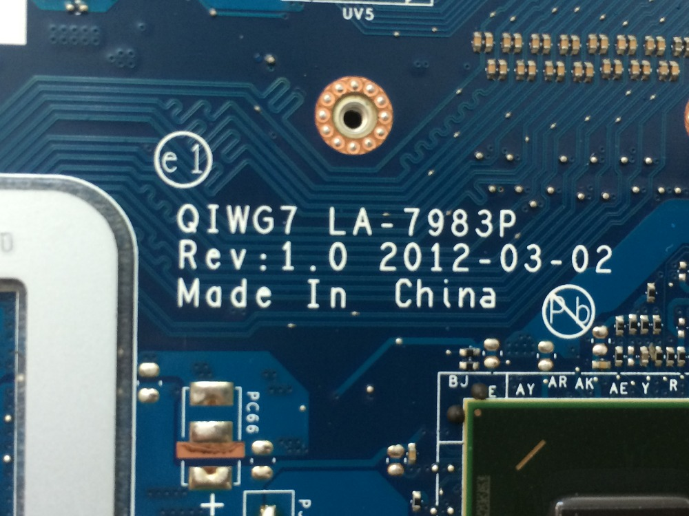 High quality QIWG7 LA-7983P mainboard for Lenovo Ideapad G780 Laptop motherboard with GT635M 2GB on board video card