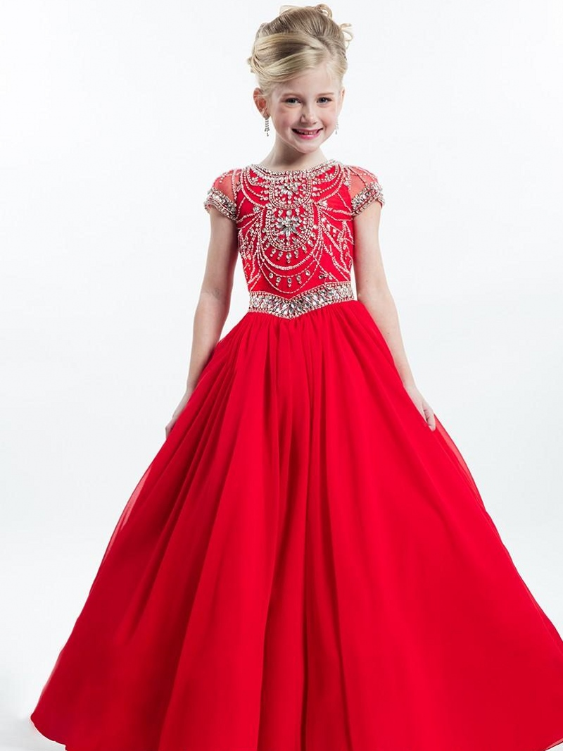 Online Buy Wholesale little girls red wedding dresses from China ...