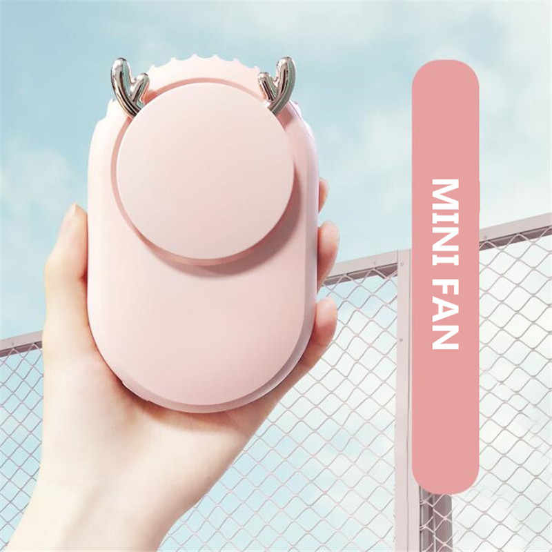 Mini Portable Pocket Fan Cool Air Hand Held Travel Cooler Cooling Mini Fans Power hanging neck Cute Fan