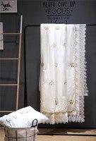 Krone stickerei tencel Decke Für Bett Tröster Weich Und Exquisite Gefühl Maschine Waschbar 200x230 cm