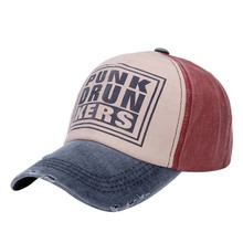 2015 New Cotton Letter PUNKDRUNKERS Brand Baseball Cap Men And Women Snapback Do Old Motorcycle Hat 6 Colors