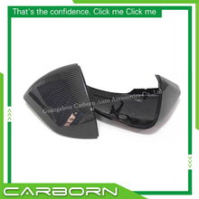 For Ford Mustang 2015-ON European Version Left Hand Drive 1:1 OEM Replacement Type Carbon Fiber Body Side Rear View Mirror Cover new 1 1 replacement carbon fiber rear view mirror cover car styling for volkswagen vw tiguan 2009 2015
