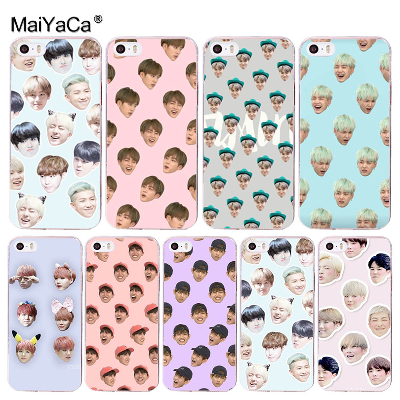 MaiYaCa Bts bangtan boys Coque Phone Case for Apple iPhone 8 7 6 6S Plus X 5 5S SE 5C 4 4S Cover
