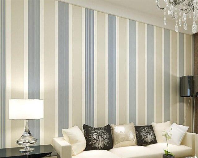 Beibehang Coloured 3d Wallpaper Vertical Stripes Bedroom Light Grey 10 M Sitting Room For