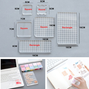 Image 3 - 6pcs DIY Acrylic Clear Stamp Block set Handle Stamping Photo Album Decor Essential Stamping Tools for Scrapbooking Crafts Making