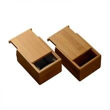 Top elegance jewelry container Creative lock BOX bamboo seal box Jewelry Storage Case Display  Organizer