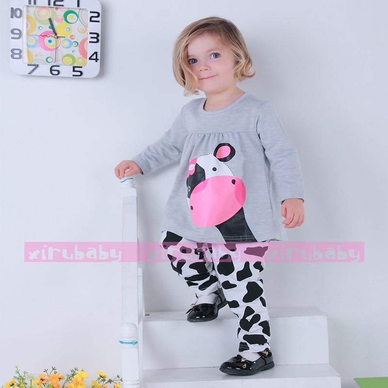 Bayi perempuan pakaian kasual lengan panjang t shirt Celana setelan Olahraga yang sapi baju anak anak sapi pakaian beli murah sapi pakaian lots from china sapi pakaian,Baju Anak Anak Olahraga