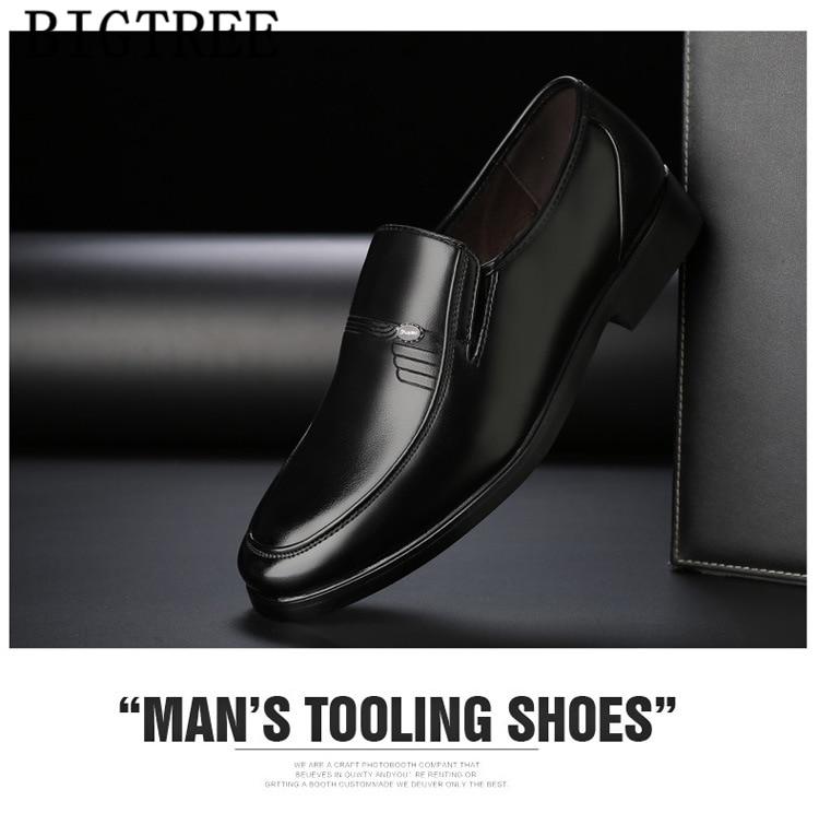 Homem sapatos de couro de luxo sapatos
