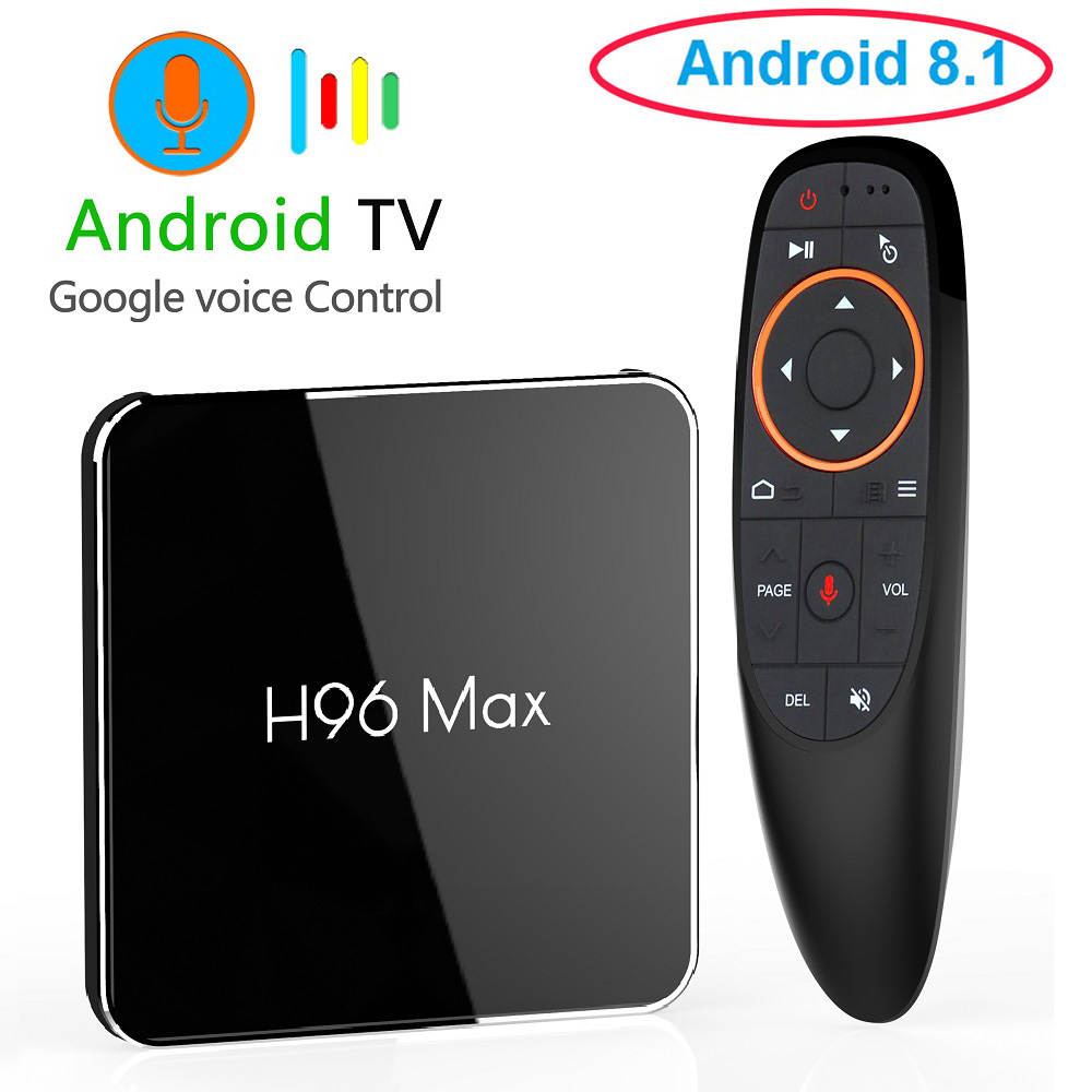 Android 8.1 Smart TV Box H96 MAX X2 4GB RAM 32GB/64GB Amlogic S905X2 Support 4K 60fps Google Play Store Youtube PK X96 T9 H96max