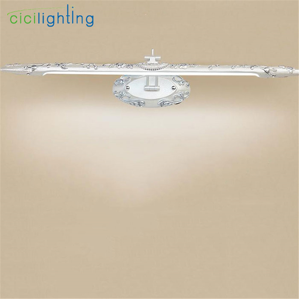 110V - 240V 10W 66cm European resin LED mirror front lamps bathroom Kitchen cabinet led Silver vintage luminaria led  lights