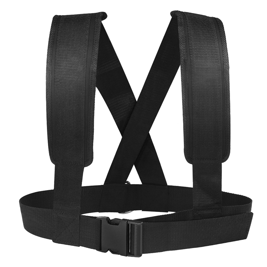 Sled Harness Tire Pulling Strap Fitness Resistance Strength Training Workout Pad Belt for Outdoor Sport Equipment Supplies
