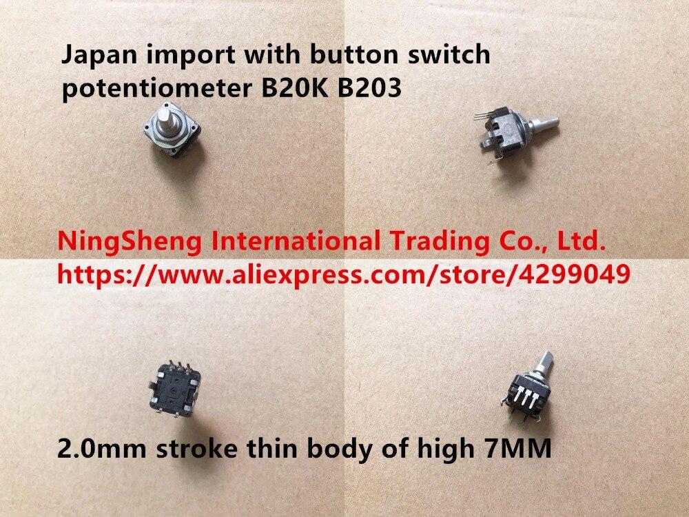 Оригинальный новый 100% с кнопочным переключателем потенциометра B20K B203 2,0 мм ход тонкий корпус высокого 7 мм