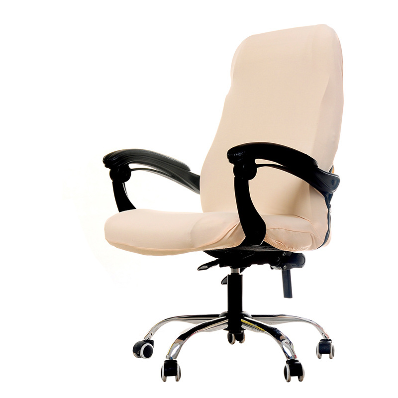 3 größen Büro Elastische Stuhl Abdeckung Anti-schmutzig Abnehmbare Stuhl Abdeckungen für Computer Stuhl 4 Feste Farben Tagungsraum sitz Abdeckung