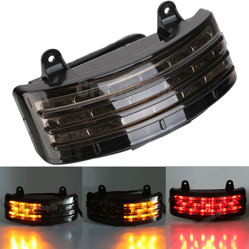 New Motorcycle Fender LED Somke Lens Integrated Tail Light With Turn Signal Lamp Fit For Harley Street Glide FLHX FLTRX Touring