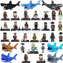 Figurine Pirates of the Caribbean Jack Sparrow Elizabeth Will Turner Barbossa Pintel Cute Figurines Toys for Children Legoings(China)