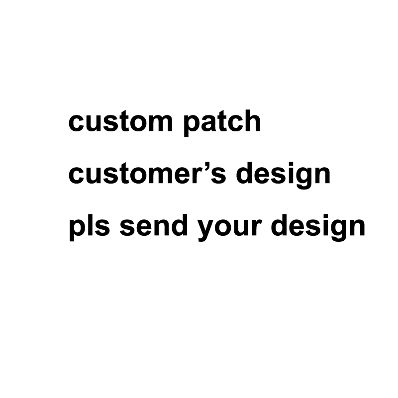 XICC Custom Heat Transfer Paper Iron On Patch Hook and Loop Velcro Embroidery Patches Logo design