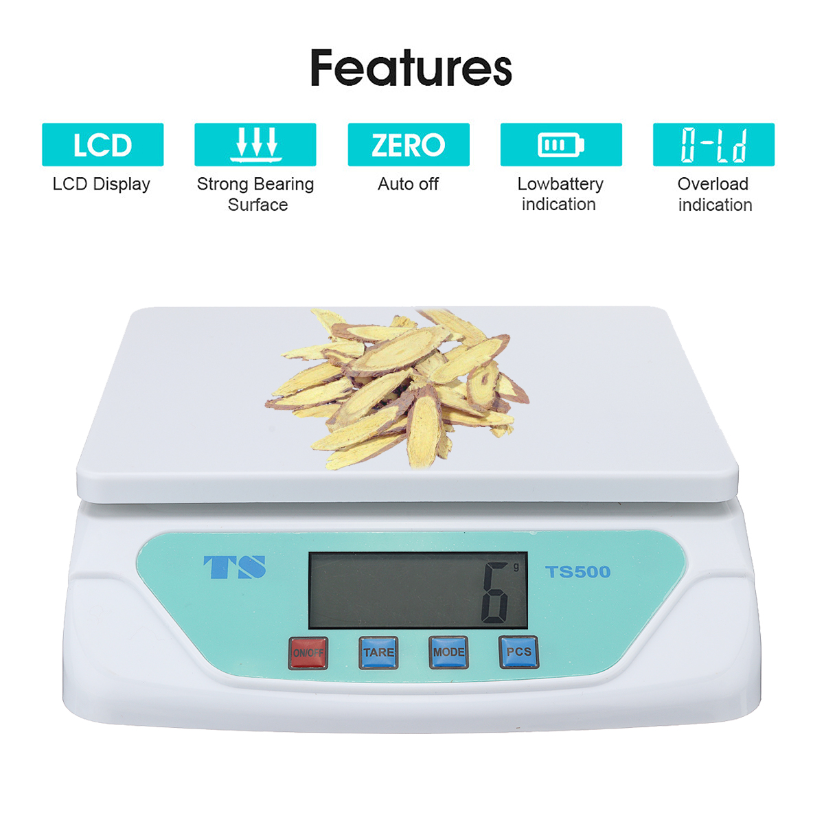 30kg / 1g Kitchen food electronic scales Weighing Grams Balance LCD Display Home Electronic Balance Weight scales universal 15kg 1g c1 kitchen scales lcd display accurate digital toughened glass electronic cooking food weighing precision ht917