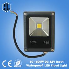 Free shipping Newest DC 12V LED luminaire light 10W 20W 30W 50W 100W IP65 LED Flood Light Floodlight LED street Lamp