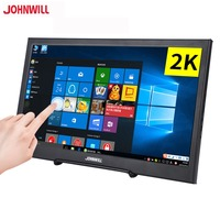 HD 10.1 inch 2K touch Screen portable monitor 2HDMI IPS USB powered for PC window7 8 10 home TV medical factory restaura