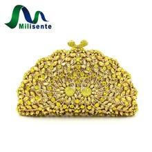 Milisente Neue Frauen Hohe Qualität Kristall Handtaschen Shell Form Party Kupplungen Bankett Taschen Drop Verschiffen Gold