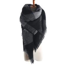 arrival wool blend oversized tartan scarf shawl pashmina plaid checked