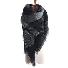 ZALA arrival wool blend oversized tartan scarf shawl pashmina plaid checked
