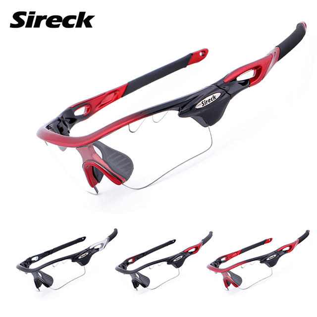 Sireck Cycling Glasses Photochromic UV400 Polarized Sport Cycling Sunglasses 2 Lens Unisex Bicycle Bike Glasses Gafas Ciclismo