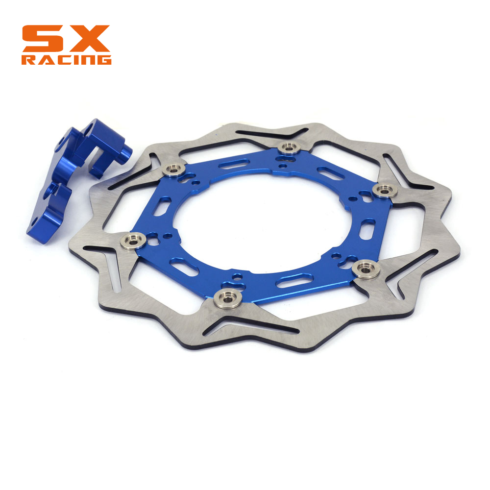 Motorcycle Front Floating Brake Disc And Bracket For YAMAHA YZ125 250 WR125 250 WRF250 400 426 450 YZF250 YZ250F 400F 426F 450F motorcycle x brake front brake disc cover for yamaha yz250f yz450f 2007 2013 blue