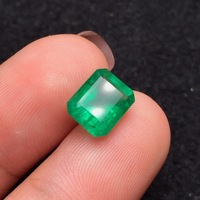 iGitl 2.95ct Gemstone Jewelry Faceted Vivid Green Natural Emerald Gemstones Loose Gemstones Loose Stone Gems