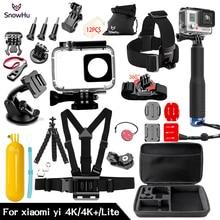 Snowhu bastão de selfie monopé para xiaomi yi 4k, tripé com instalação de monopé, tripé para xiaomi yi 4k yi2 action câmera 2 ii gs74