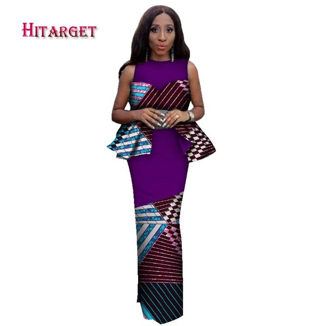 Hitarget 2019 New Design African Bazin Riche Dresses for Women Traditional Craft High-end wedding dress African Clothes WY2314