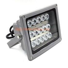 12 шт. светодиодный 70 м дистанционный ИК инфракрасный осветитель лампа для камеры видеонаблюдения ИК ночного видения DC/AC опционально(SI-15W