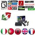 MAG 250 + Super 1500 Canais IPTV IPTV Itália HotClub XXX Italiano Espanha Portugal Europa IPTV Linux Sistema STi7105 Conjunto Top Box