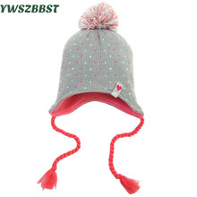 New Crochet Flower Baby Girls Hats Autumn Winter Infant Hats for Girls Warm Baby Toddler Hats Kids Caps fit 0 to 4 years old
