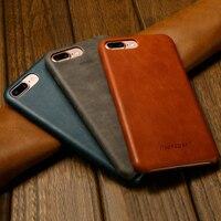Jisoncase Original Leather Case For IPhone 8 8 Plus Case Cover Genuine Leather Luxury Slim Back