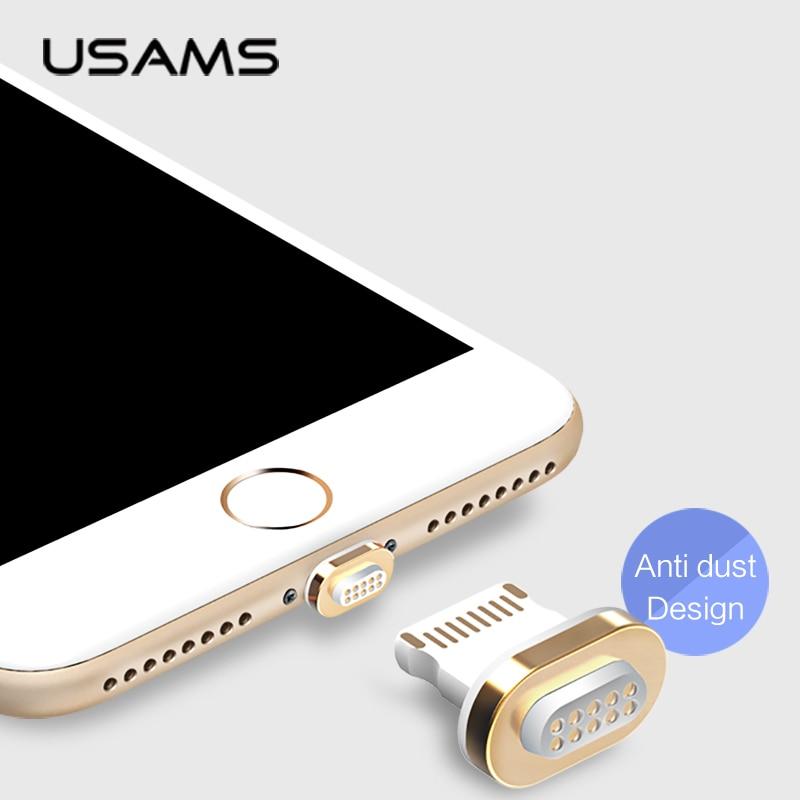 Type-C USB Kabel Magnetik USAMS USB C 1m Nylon Magnetic Sync Data - Aksesori dan suku cadang ponsel - Foto 4