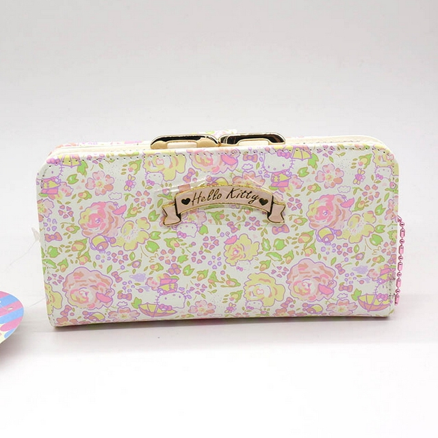 Hello Kitty large capacity wallet female High quality PU womens purse gift  for Girlfriend 7df03452fb0cf