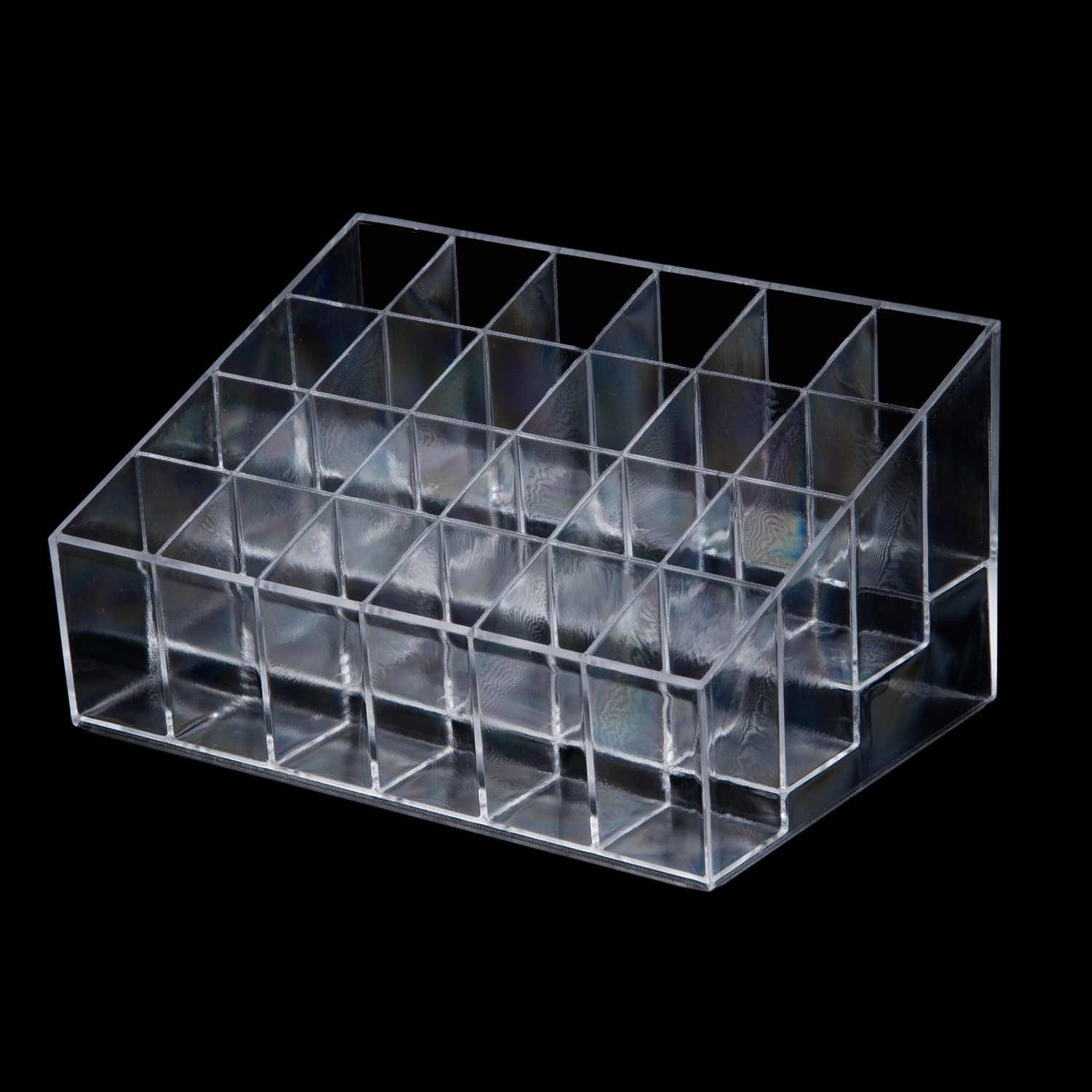 HOT Clear Transparent arylic Trapezoid Lipstick Holder Cosmetic Organizer/display/holder Organizer Stand ...