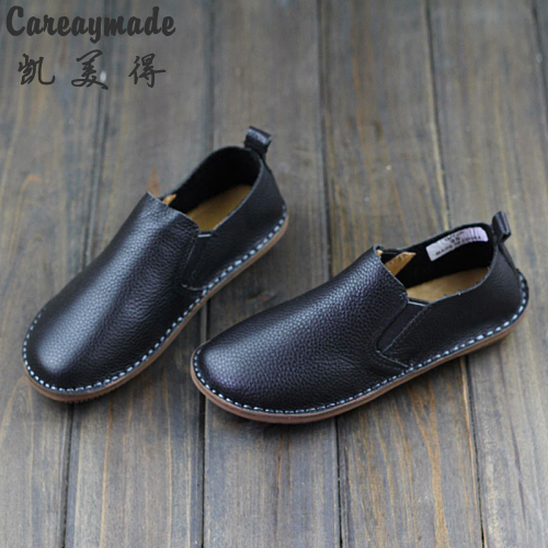 892cc41a16adc Careaymade spring,Genuine leather shoes,pure handmade flat shoes,women the  retro art mori girl shoes,Women fashion Casual shoes-in Women's Flats from  Shoes ...
