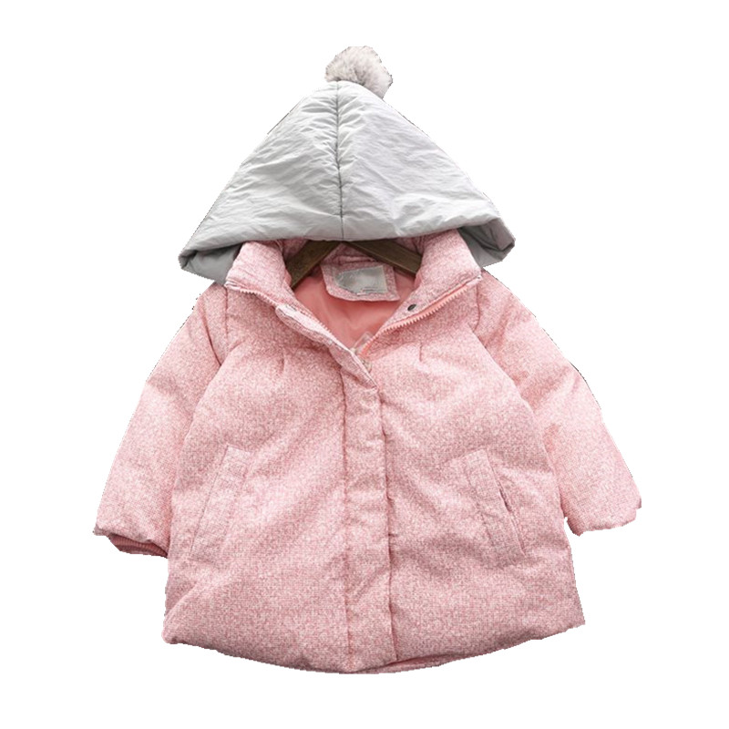 winter baby girl jacket pink duck Down Jacket for girl winter coat kids parka children's clothes new year clothes christmas 2017 date 2 under ultra light baby girl duck down jacket down over 90% of hot spring autumn winter coat with cap kids clothes