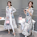 2016 New Vintage Women Trench Print Slim Chinese Wind Coat Coats 1661