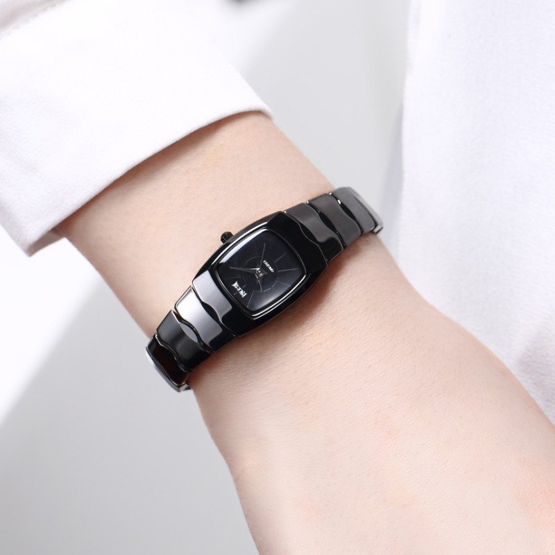 все цены на DALISHI Brand Women Watches Ladies Quartz Watch Rectangle Simple Dial Girl Fashion Casual Clock Swimming Watch Zegarek Damski онлайн