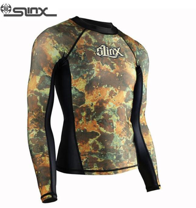Slinx Mens Rash Guard Uv Protection Swim Shirt