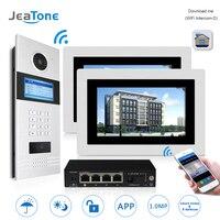 7 WIFI IP Video Door Phone Intercom Door Bell Building Security Access Control System Touch Screen