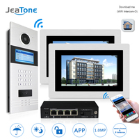 7 WIFI IP Video Door Phone Intercom Door Bell Building Security Access Control System Touch Screen
