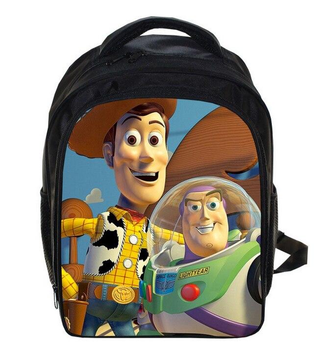1c5062b0da1 13 Inch Toy Story Buzz Lightyear Woody School Bags For Boys Girls Cartoon  School Kids Backpack
