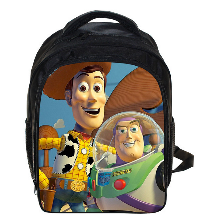 13 Inch Toy Story Buzz Lightyear Woody School Bags For Boys Girls Cartoon School Kids Backpack Children Mochila Gift original toy story 3 buzz lightyear robot light voice elastic wings 30cm action music anime figure kids toys for children p2