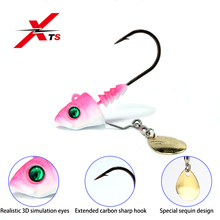 XTS Fishing Bait 6g 9g 14g Artificial Lead Jig Lures 2 Pieces/ Box Three Colors Available Sea Bass Carp Tackle 3304