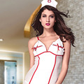 The Qixi Festival Valentine sexy nurse net bra tape without hat with a sexy pajamas suit 8756